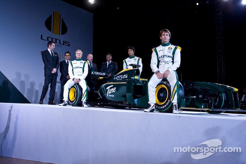 Todos los miembros veteranos del Equipo F1 Lotus