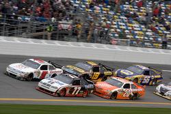 Sam Hornish Jr., Penske Racing Dodge, Kasey Kahne, Richard Petty Motorsports Ford, Joey Logano, Joe