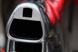 Detalle de la toma de aire del McLaren Mercedes, MP4-25