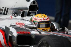 Воздухозаборник на машине Льюиса Хэмилтона, McLaren Mercedes, MP4-25