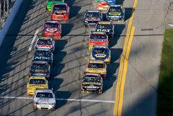 Kasey Kahne, Richard Petty Motorsports Ford leads the field