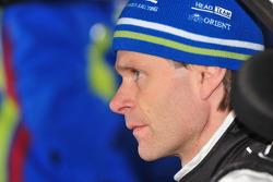 El auto Ford Focus RS WRC 08 de Marcus Gronholm para el equipo Stobart VK M-Sport Ford Rally Team