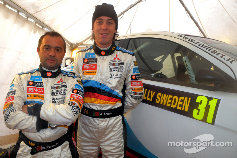 Armindo Araujo and Miguel Ramalho, Mitsubishi Lancer Evo X, Ralliart Italy