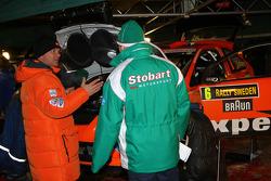 Auto Ford Focus RS WRC 08 de Henning Solberg e Ilka Minor, Stobart VK M-Sport Ford Rally Team