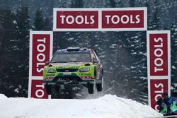Jari-Matti Latvala y Miikka Anttila, Ford Focus RS WRC08, BP Ford Abu Dhabi World Rally Team
