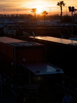Sun rises on Daytona International Speedway