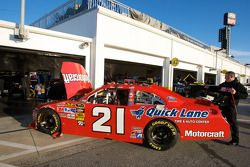 Wood Brothers Racing Ford garage