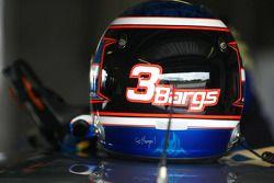 Helmet of Jason Bargwanna