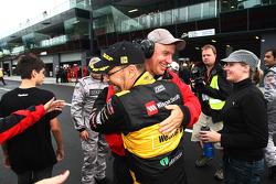 Very happy John Bowe celebrates victory