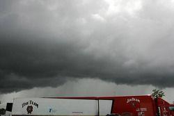 Regenwolken over Queensland Raceway