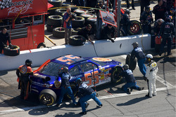 Pit stop for Michael McDowell, Prism Motorsports Toyota