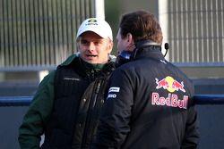 Heikki Kovalainen, Equipo Lotus F1, Christian Horner, director deportivo de Red Bull Racing