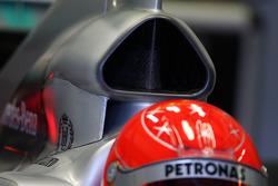 Michael Schumacher, Mercedes GP Petronas, W01, detay, airbox