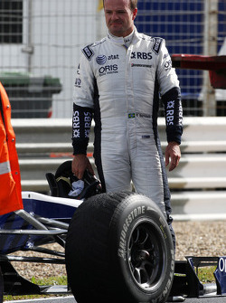 Rubens Barrichello, Williams F1 Team, stops, circuit