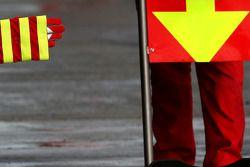 Un guante Ferrari
