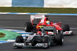Michael Schumacher, Mercedes GP Petronas, Felipe Massa, Scuderia Ferrari