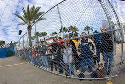 Fans wait for Danica Patrick