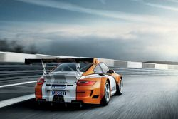 Rendering of the new Porsche 911 GT3 R Hybrid