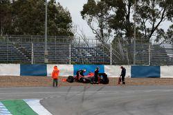 Timo Glock, Virgin Racing, in het gravel