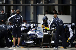 Rubens Barrichello, Williams F1 Team, practice pit stops