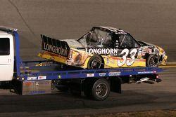 Truck Ron Hornaday na crash