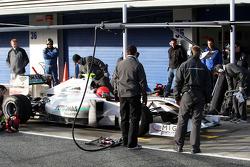 Michael Schumacher, Mercedes GP Petronas, practice pit stops