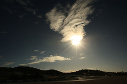 sun sets over testi