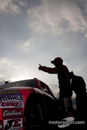 Jamie McMurray, Earnhardt Ganassi Racing Chevrolet na het zetten van de snelste tijd