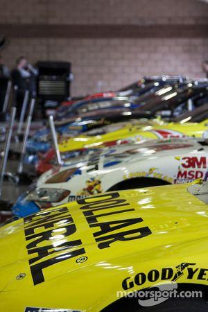 Les voitures Nationwide se préparent pour les essais