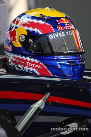 De helm van Mark Webber, Red Bull Racing