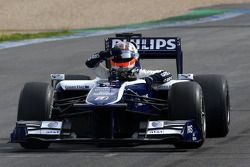 Nico Hulkenberg, Williams F1 Team, stopt op circuit
