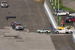 Crash: wagen van Leilani Munter