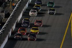 Brian Vickers, Red Bull Racing Team Toyota and Tony Stewart, Stewart-Haas Racing Chevrolet battle fo