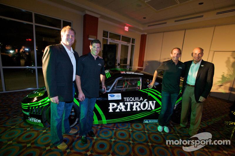 Tequila Patron, sponsor van de American Le Mans Series: Matt Carroll, Scott Sharp, Ed Brown en Scott