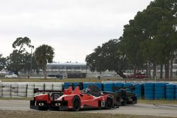 Spin voor #36 Genoa Racing Oreca FLM09: Larry Connor, Andy Wallace