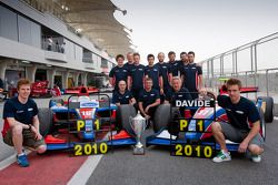 The iSport International team celebrates winning the 2010 GP2 Asia driver and team championships
