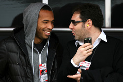Thierry Henry, FC Barcelona football player, guest of McLaren Mercedes