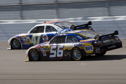 Marcos Ambrose, JTG Daugherty Racing Toyota and Martin Truex Jr., Michael Waltrip Racing Toyota