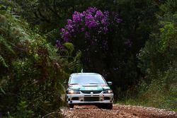 Paulo Nobre et Edu Paula, Palmeirinha Rally Mitsubishi Evo 9 2000