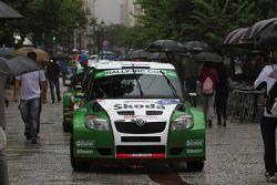 Juho Hanninen en Mikko Markula, Skoda Motorsport Skoda Fabia S2000