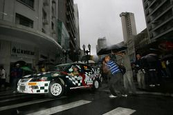 Paulo Nobre en Edu Paula, Palmeirinha Rally Mitsubishi Evo 9 2000