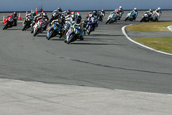 Start: Tommy Hayden leads the field