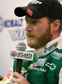 Pole winner Dale Earnhardt Jr., Hendrick Motorsports Chevrolet in the post-qualifying press conference