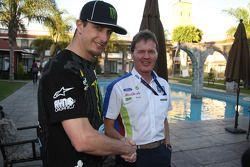 Ken Block hooks up with BP Ford Abu Dhabi World Rally Team boss, Malcolm Wilson