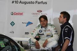 Augusto Farfus, BMW Team RBM, BMW 320si et Bart Mampaey, Team Principal, BMW Team RBM