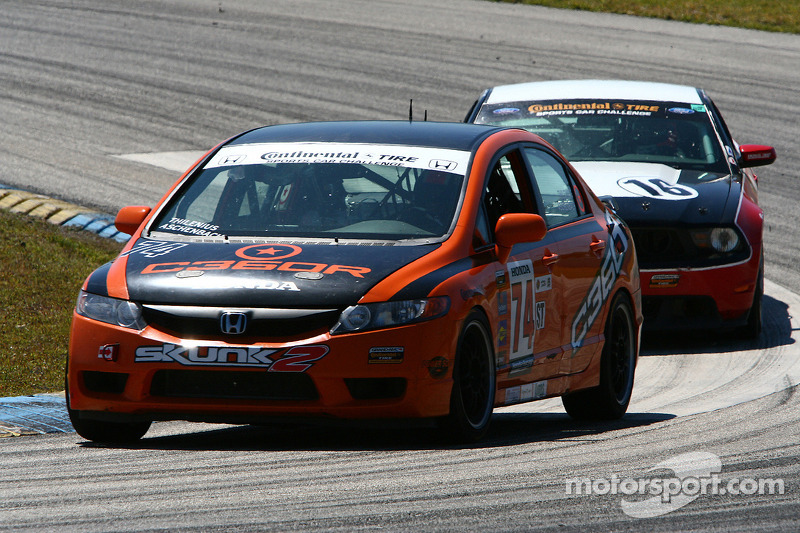 #74 Compass360 Racing Honda Civic SI: Lawson Aschenbach, David Thilenius