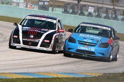 #181 APR Motorsport Volkswagen GTI: Josh Hurley, Kevin Stadtlener; #21 GS Motorsports Chevrolet Coba
