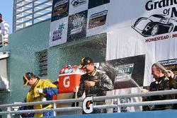 Drivers celebrate