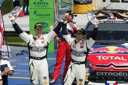 Podio: segundo lugar Petter Solberg y Philip Mills, Citroën C4 WRC, Petter Solberg Rallying