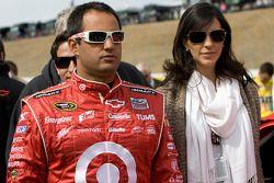 Juan Pablo Montoya, Earnhardt Ganassi Racing Chevrolet avec sa femme Connie